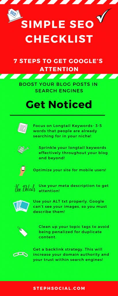 seo checklist for blog posts