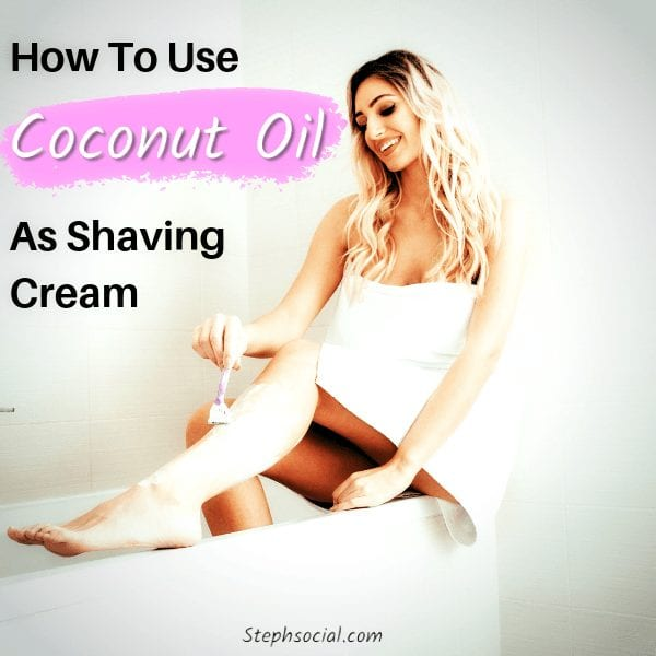 how to use coconut oil as shaving cream
