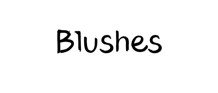 Blushes feminine font