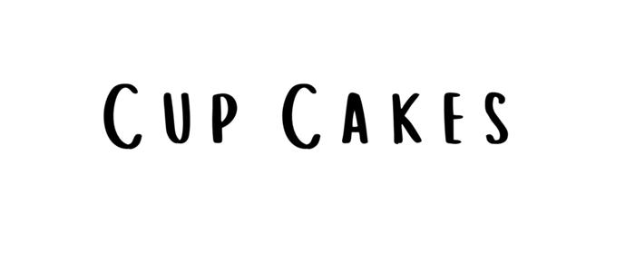 cup cakes feminine font
