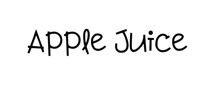apple juice feminine font