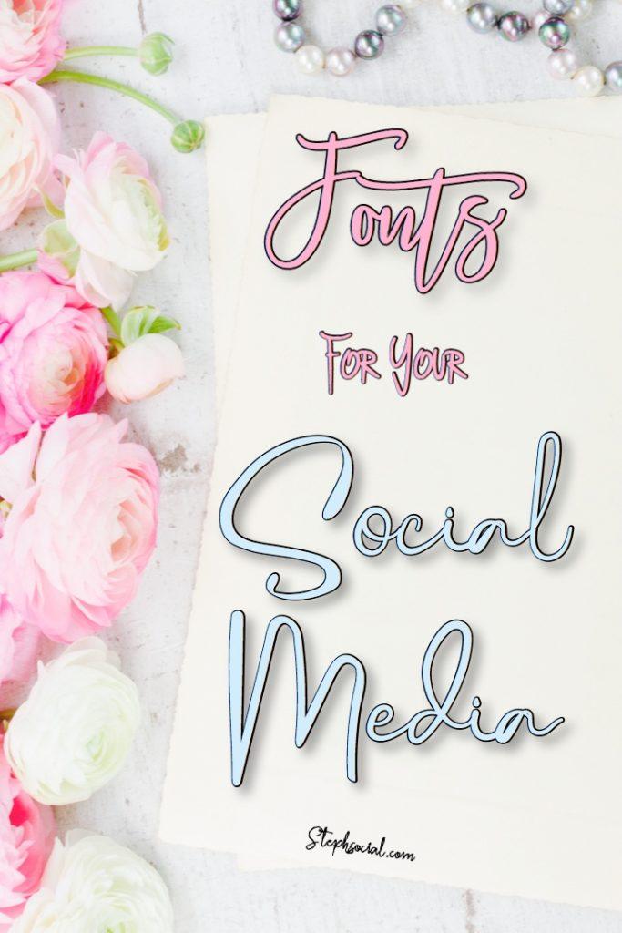fonts for your social media
