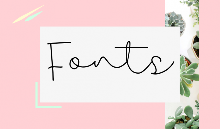 fonts for blogs