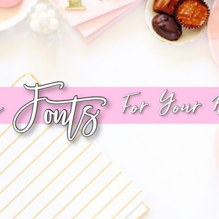 free fonts for your blog