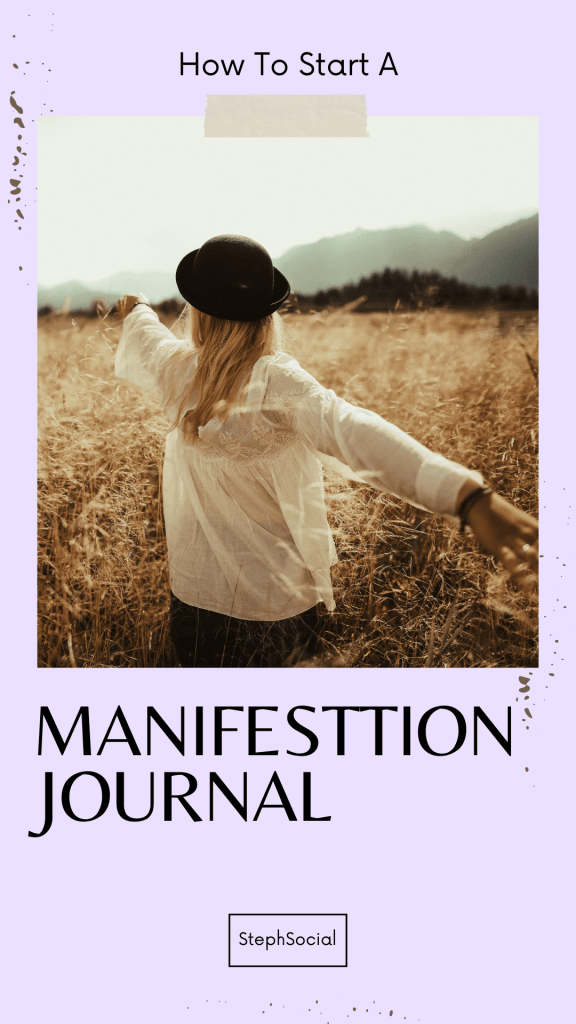 Law of attraction journal to manifest what you want in life!