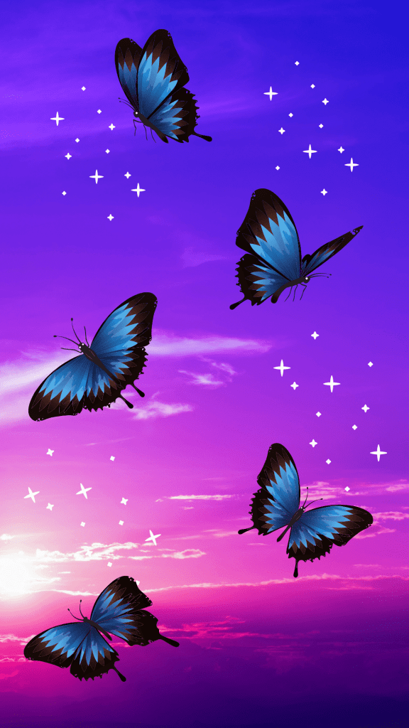 Beautiful butterfly background for iPhone!
